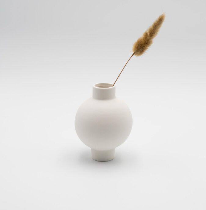 Vase weiß klein